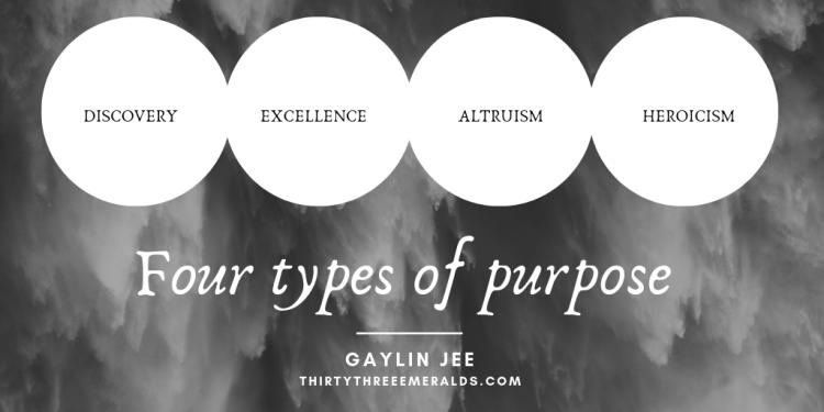 Four types of purpose